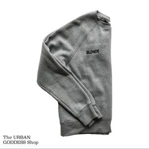 BLONDE Crew Neck Grey Sweater s/m